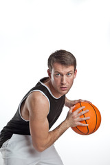 Basketball Player With White Background