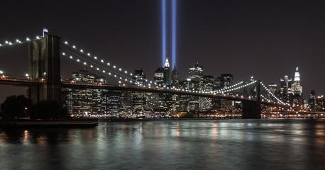 USA, New York State, New York City, 9/11 tribute in light