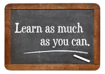 Learn as much as you can