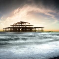 United Kingdom, Brighton, View of West Pier