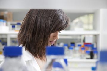 Female lab technician in laboratory