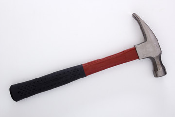Industrial hammer with steel handle