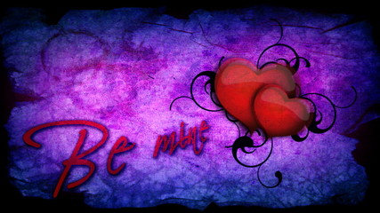 Be mine inscription with beating heart for Valentine's day