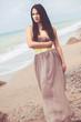 Fashion model at the beach