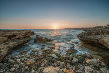 Italy, Sicily, Sunset over sea
