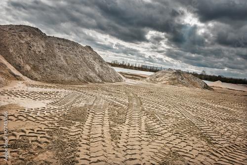 Leinwanddruck Bild Sandgrube2