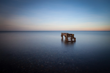 Germany, Calm sea at dusk