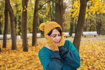 Portrait of woman in park