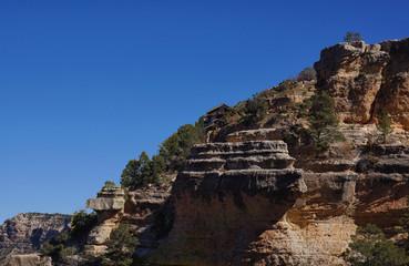USA, Arizona, Grand Canyon, Cliff and clear sky