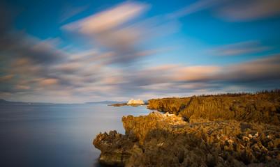 Sea and rocky landscape