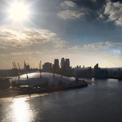 United Kingdom, London, View of O2 Arena