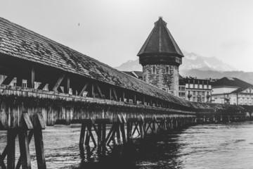 Switzerland, Lucerne, The Chapel Bridge