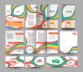 The International School Stationery Set Template