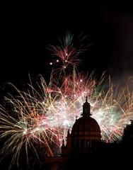 Italy, Sicily, Ragusa, Colorful fireworks