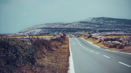 Croatia, Lika-Senj County, Novalja, Country road