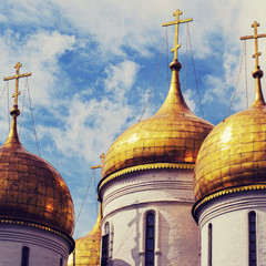 Close up.The Cathedral of the Annunciation in Kremlin
