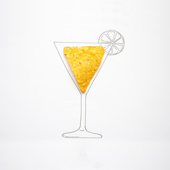 Conceptual drawing of cocktail