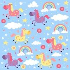 pony Rainbow love pattern