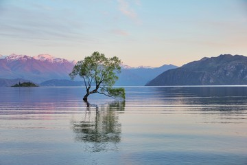 New Zealand, Otago, View of Lake Wanaka