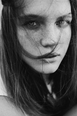 Russia, Portrait of teenage girl (14-15)