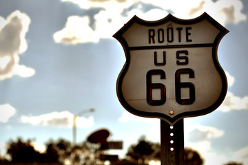 USA, Arizona, Coconino County, Route 66 road sign