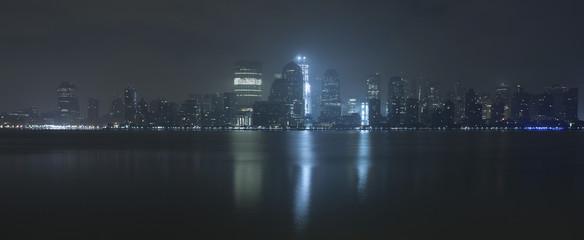 USA, New York State, New York, View of Manhattan at night