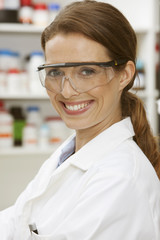 Portrait of laboratory technician
