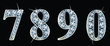 Diamond numbers set  7,8,9,0. Vector Eps10 - 77442138