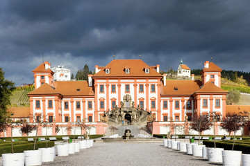 baroque Troja Castle, Prague, Czech republic