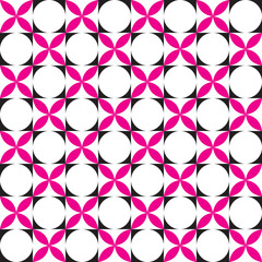Seamless  Intersecting Circle Pattern