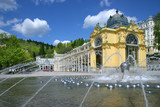 Singing fountain, spa Marianske lazne, Czech republic