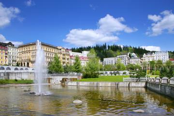 fountain, spa Marianske lazne, Czech republic