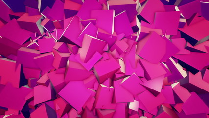 Cubic abstract background. Loop animation.