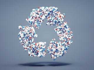 Pills recycle symbol