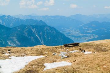 Landscape of a mountain plateau Dachstein Krippenstein,  Austria