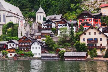 Houses of Hallstatt in  Austria