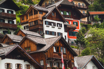 Houses of Hallstatt in  Austria