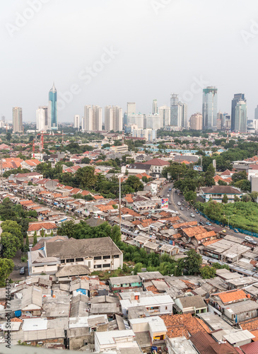 Foto op Canvas Indonesië Jakarta skyline