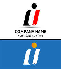 Corporate Logo i Letter company vector design template