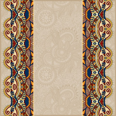 ornamental background with flower ribbon, stripe pattern
