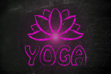 yoga inspired illustration, mind body and soul