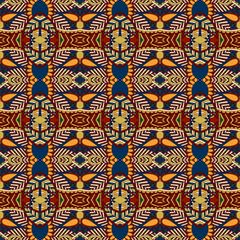 seamless geometry vintage pattern, ethnic style