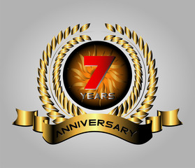 7 years Celebration Anniversary label