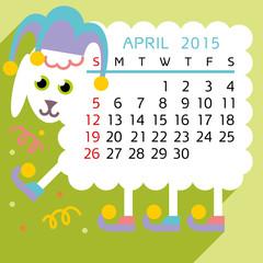 calendar april 2015 sheep