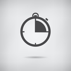 Stopwatch icon, vector illustration.