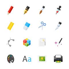 Graphic Design Icons : Flat Icon Set