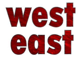 doğu ve batı kelimeleri