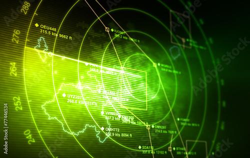 Leinwanddruck Bild Radar