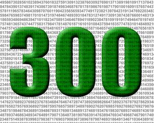 yeşil renkli 300 sayısı