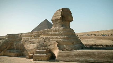 Huge statue sphinx from Egypt times